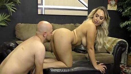 Booty Queen Nina Kayy Makes Her Wimp Boyfriend Eat Ass