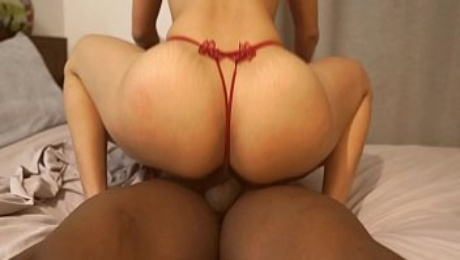 Fat ass Spanish babe in lingerie meet a bbc to ride and suck his cum!